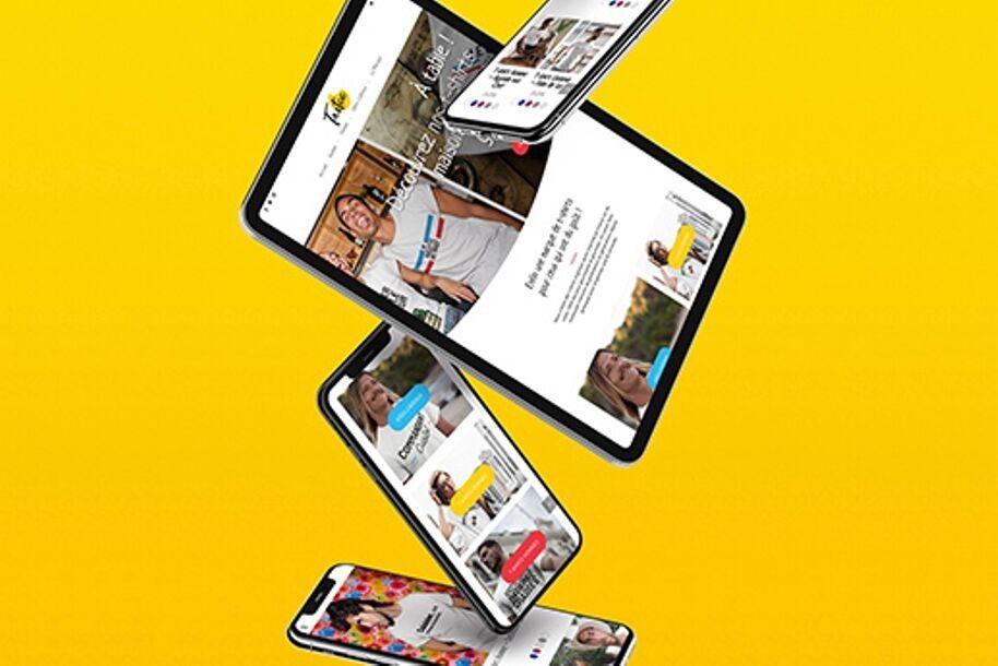 Identité de marque et site web Tastee - vente de t-shirts en ligne