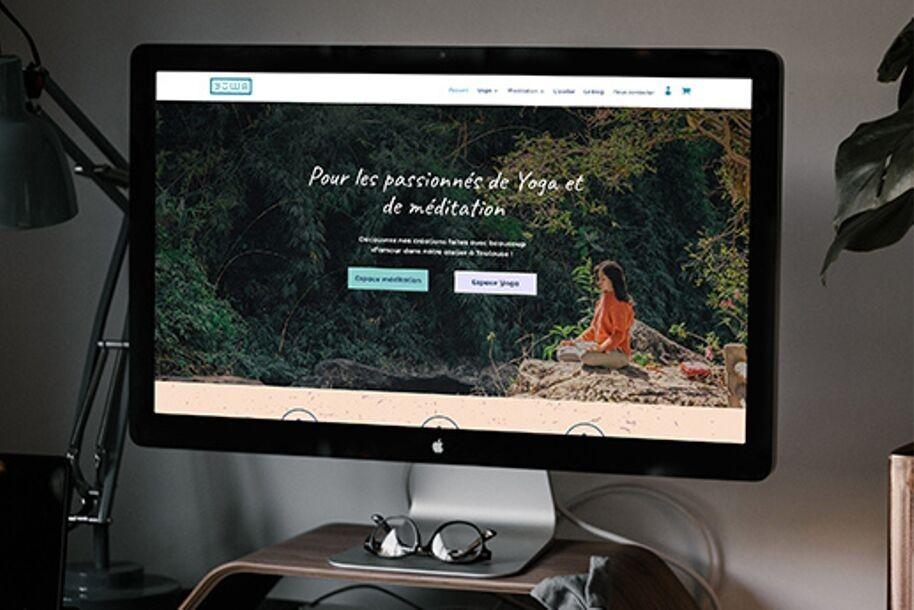 Site Internet de Yuwa - coussins de méditation et tapis de yoga