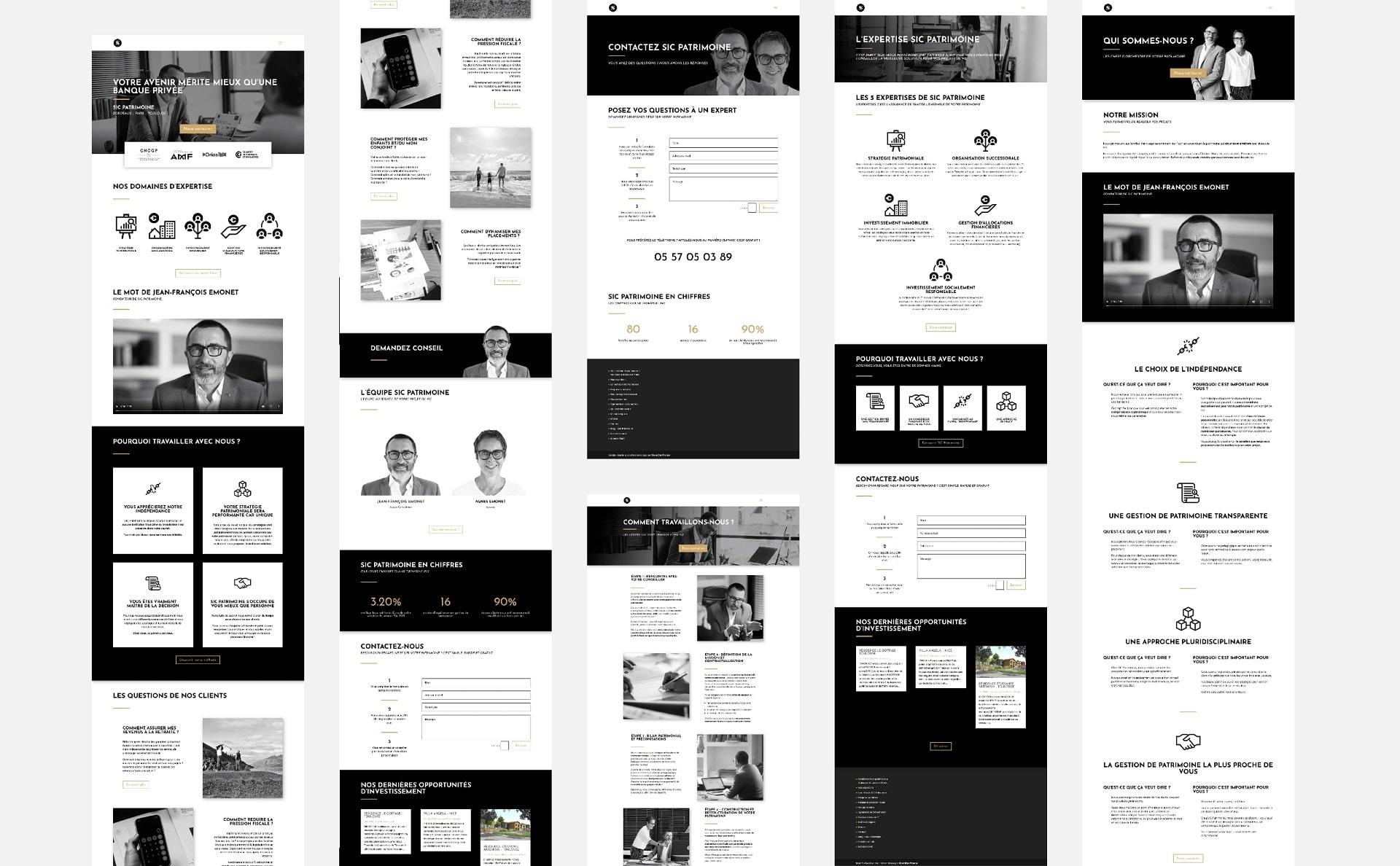 création site internet gestionnaire de patrimoine