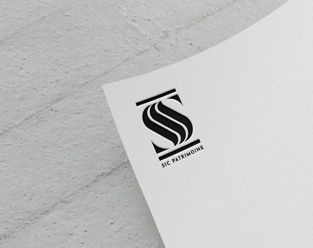 création logo noir et blanc pour lettre