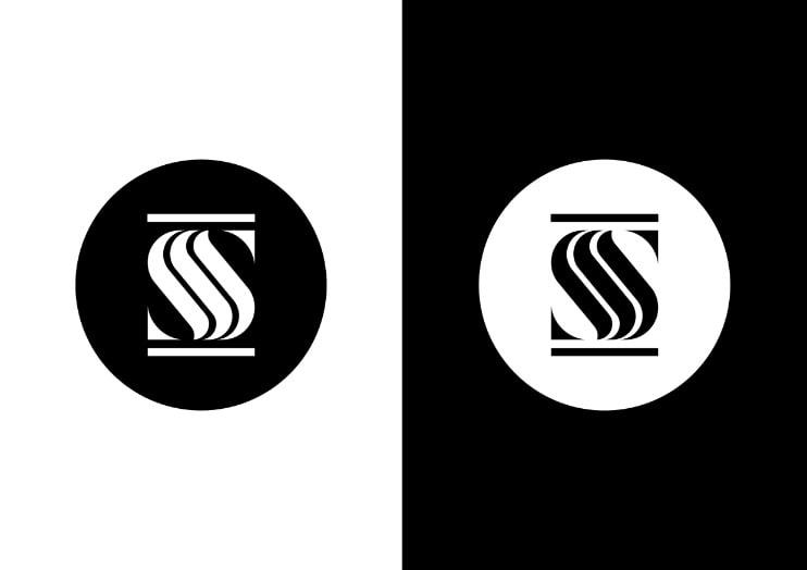 conception logo épuré noir et blanc