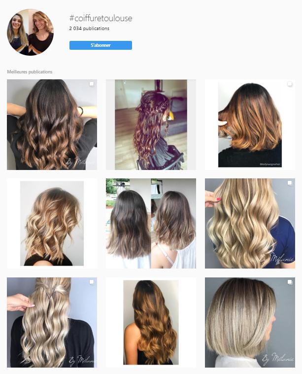 Exemple de recherche d'hashtag sur Instagram pour votre entreprise