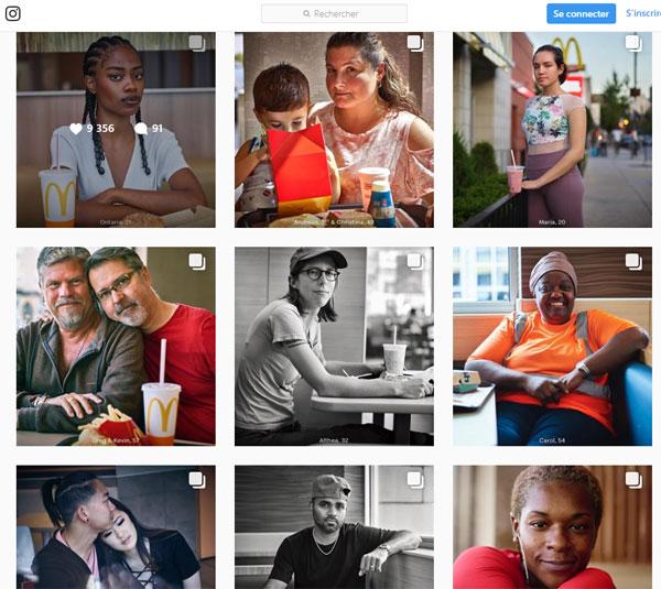 """Campagne McDonald """"Venez comme vous êtes"""" sur Instagram"""