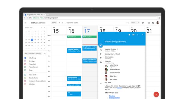 Google Agenda - calendrier entreprise