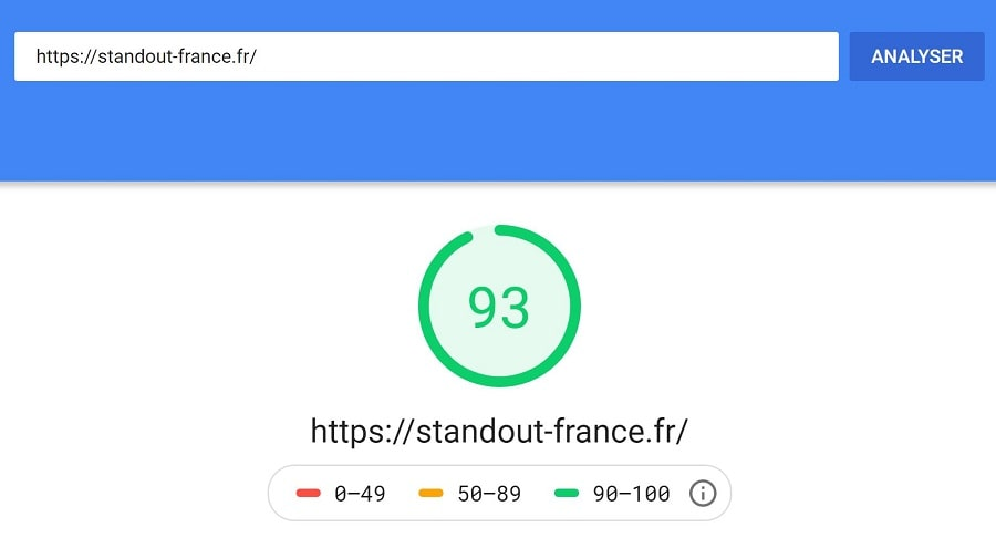 tester la vitesse d'un site wordpress avec google page speed insights