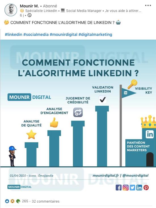 Mounir M, expert utilisation Linekdin pour les entreprises
