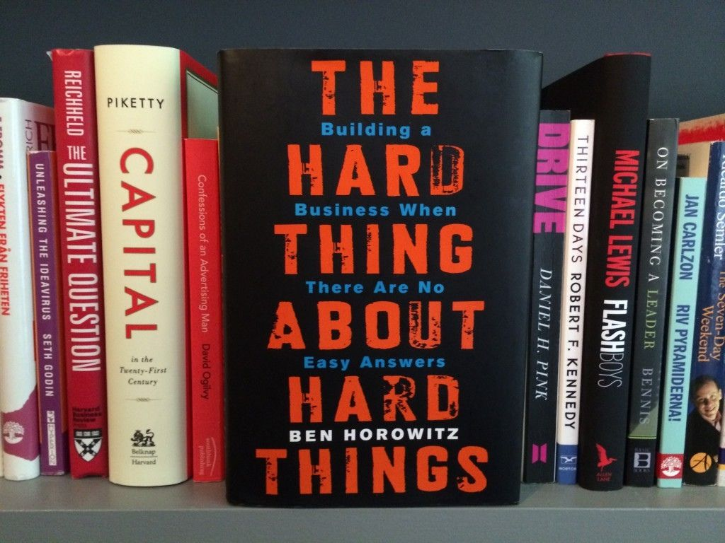 the hard thing about hard things livre conseils entrepreneur