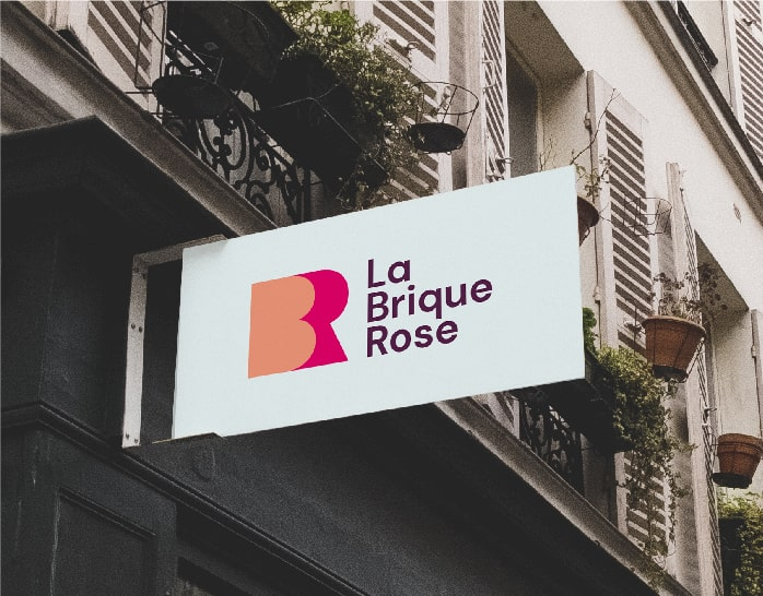 Enseigne La Brique Rose