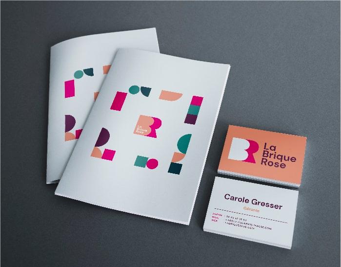 Création design documents La Brique Rose - carré