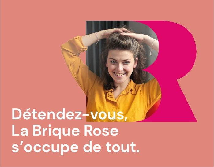 Création identité visuelle La Brique Rose