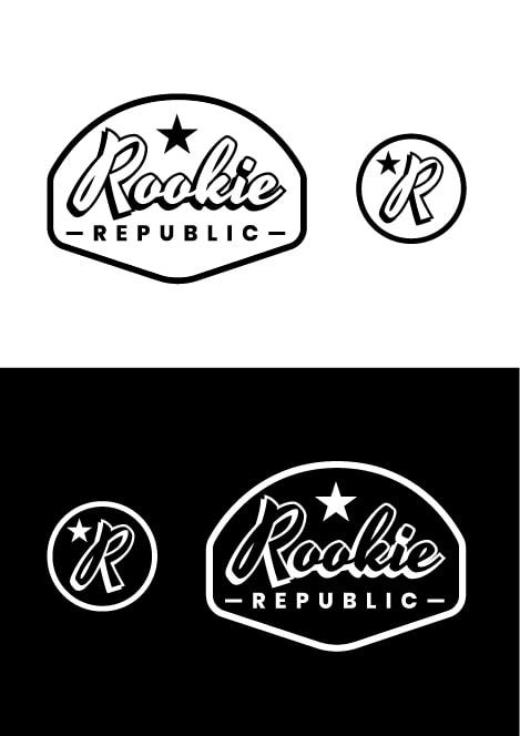 Logo Rookie Republic BW - square