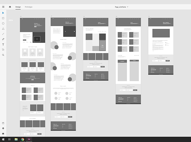 Adobe XD - wireframes - UX design - création site web