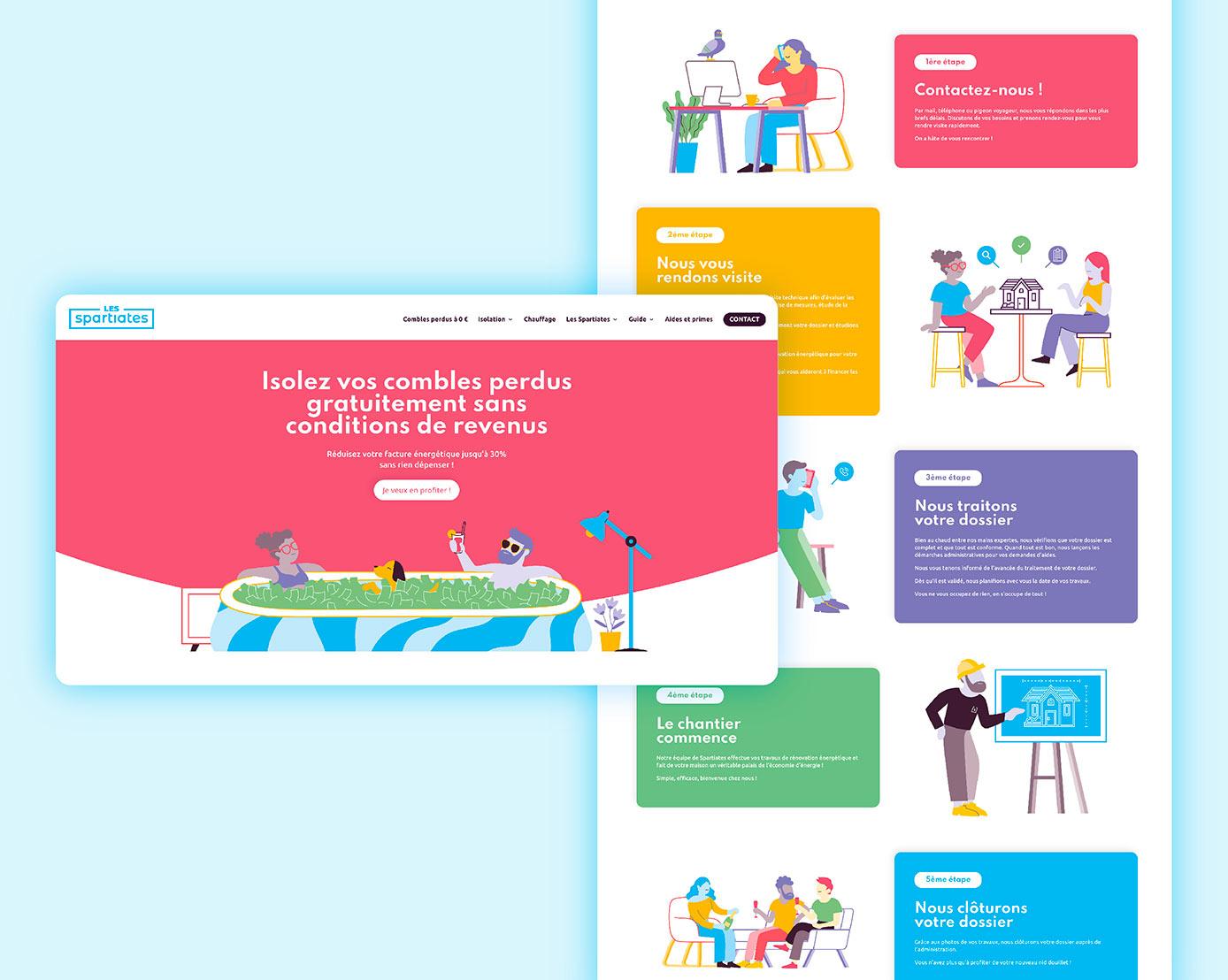 illustrations site internet isolateurs