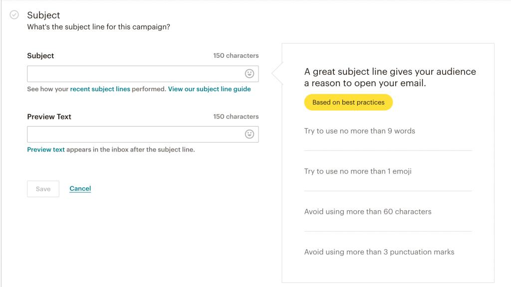 crer une campagne de newsletter