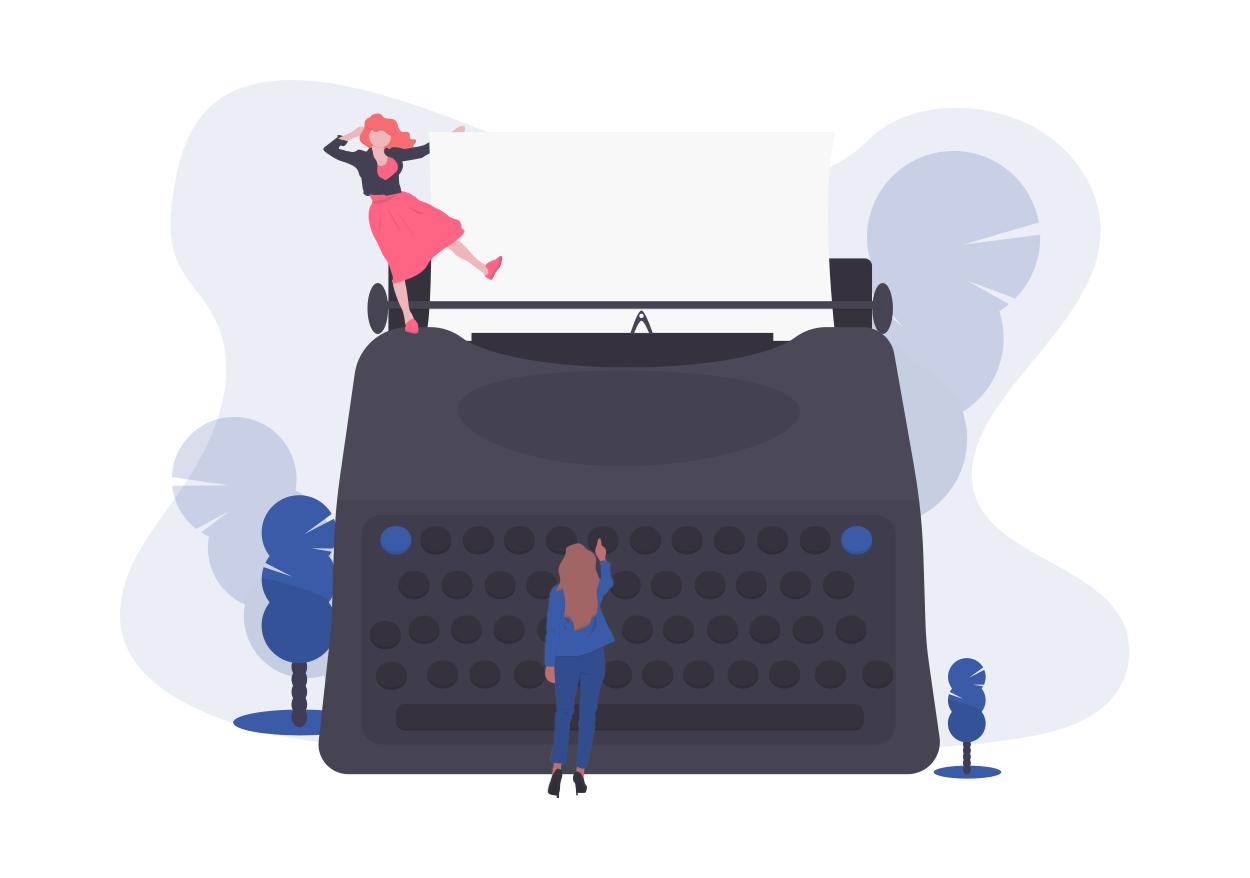 illustration de la rédaction pour créer une landing page efficace